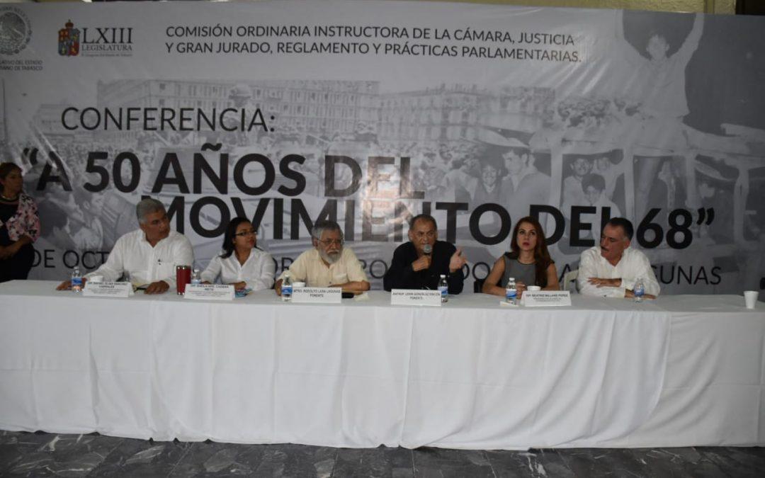 Disertan la Conferencia 'A 50 años del Movimiento del 68'