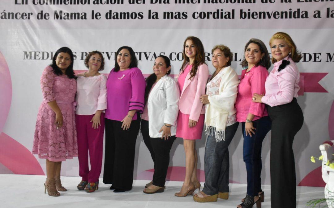 Imparten Conferencia sobre Medidas Preventivas contra el Cáncer de Mama 'Mi Lucha Rosa'