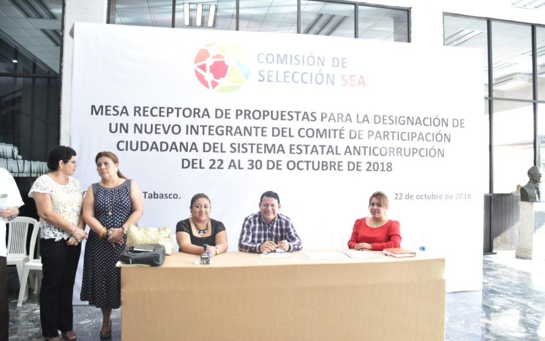 Instalan mesa receptora de propuestas para elegir aintegrante del Comité de Participación Ciudadana del SEA