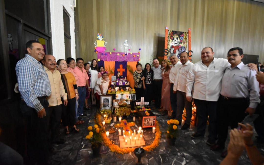 Realiza Congreso del Estado concurso de altares entre los tres sindicatos que convergen al interior del Poder Legislativo