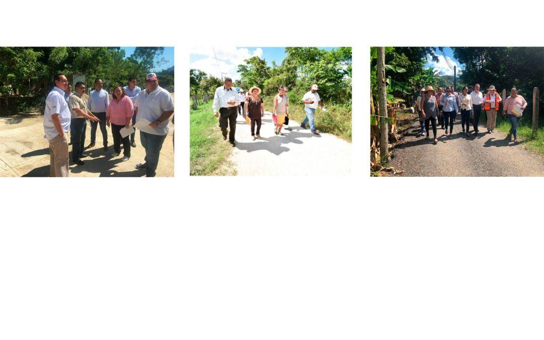 Supervisan Inspectoras de Hacienda Primera, Segunda y Tercera, obras en los municipios de Nacajuca y Tacotalpa