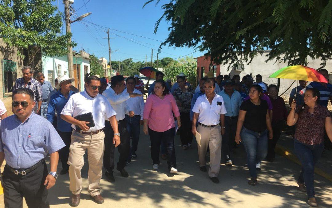 Comisión Inspectora de Hacienda Segunda continúa supervisión física de obras en el municipio de Jonuta