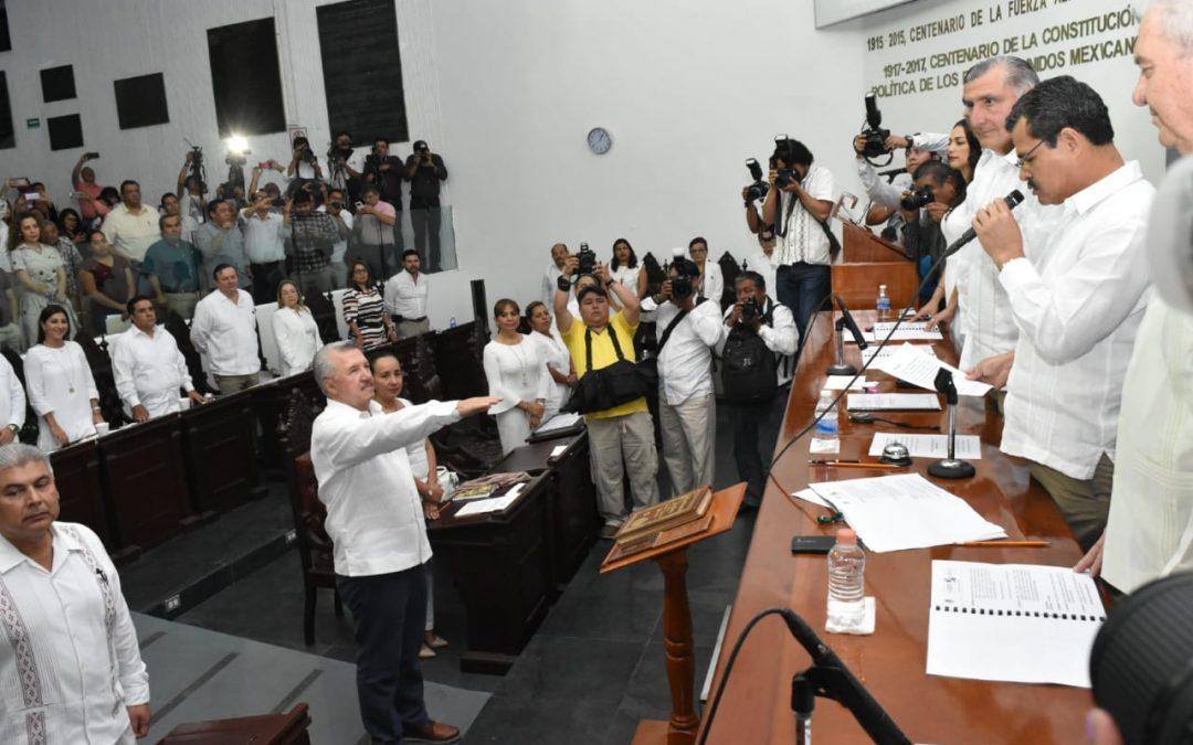 Rinde protesta Jaime Humberto Lastra Bastar como Fiscal General del Estado por un periodo de 9 años