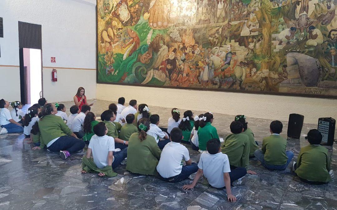 Estudiantes de educación básica visitan la sede del Poder Legislativo