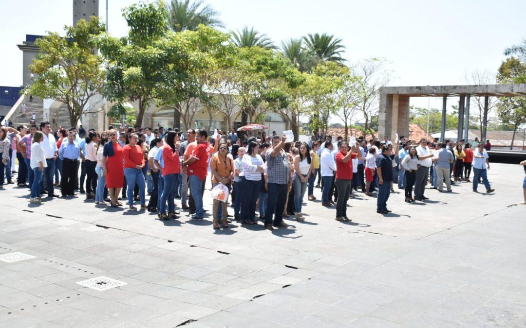 Participa LXIII Legislatura en ejercicio de evacuación en caso de emergencia