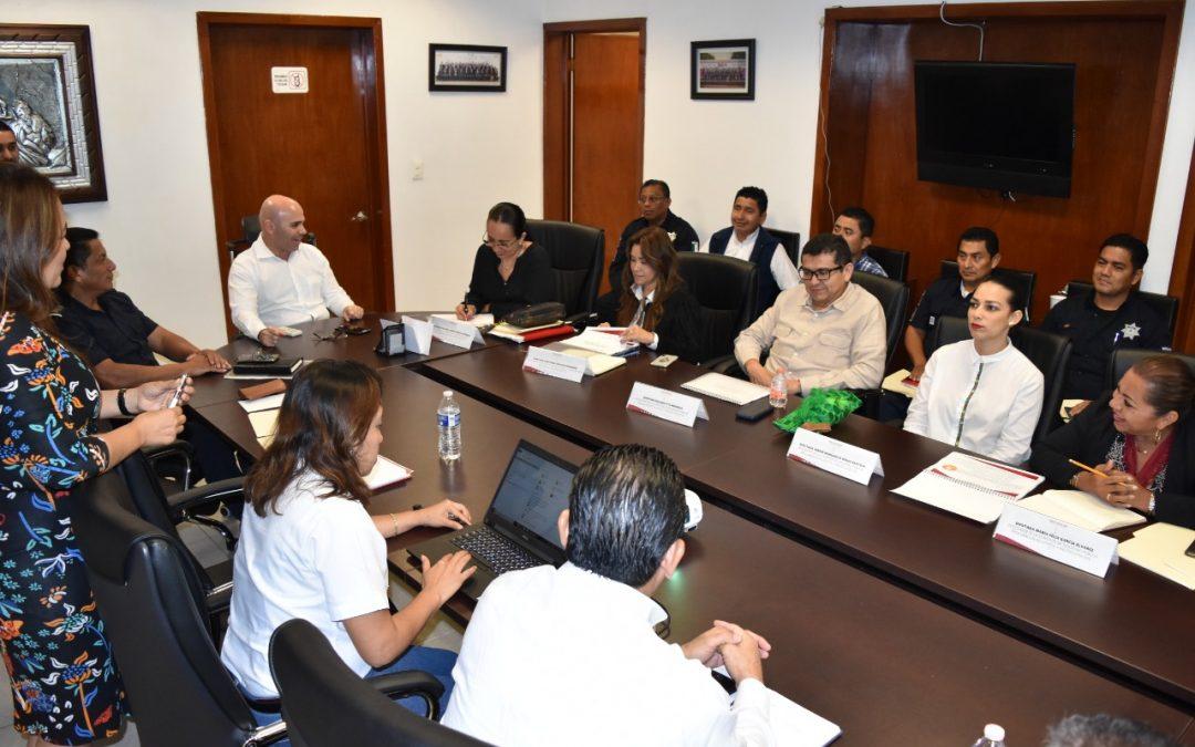 Se reúnen diputados con el titular de la Secretaría de Seguridad y Protección Ciudadana