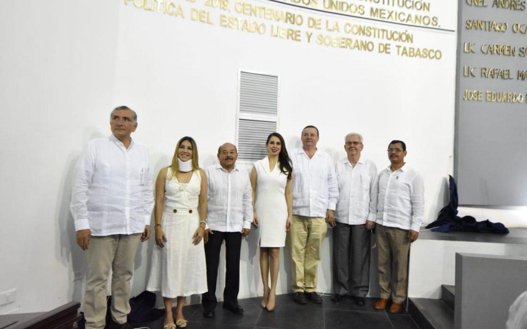 Conmemora LXIII Legislatura Centenario de la Constitución Política del Estado Libre y Soberano de Tabasco