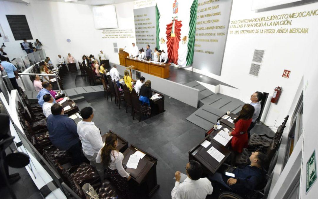 Avala Congreso reestructurar Comité de Compras del Poder Ejecutivo y autoriza al Ayuntamiento de Centro contratar empréstito