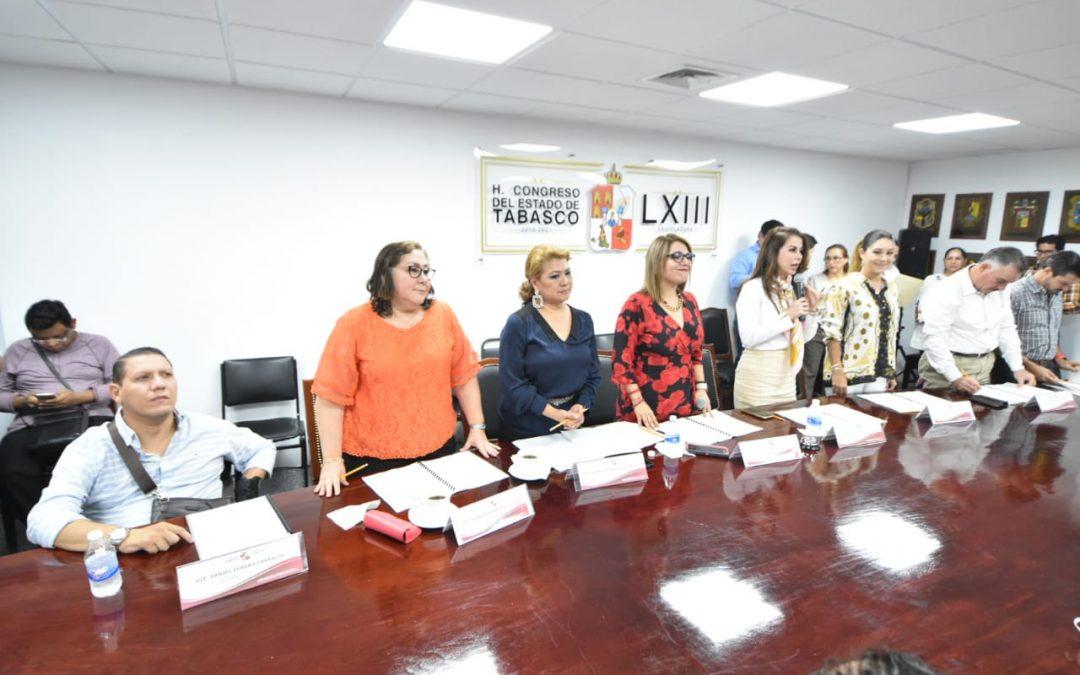 Recibe Comisión Permanente una Iniciativa para reformar la Ley de Extinción de Dominio para el Estado de Tabasco