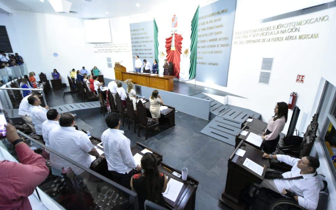 Se pronuncia Congreso del Estado por abonar  al fortalecimiento y desarrollo de Tabasco