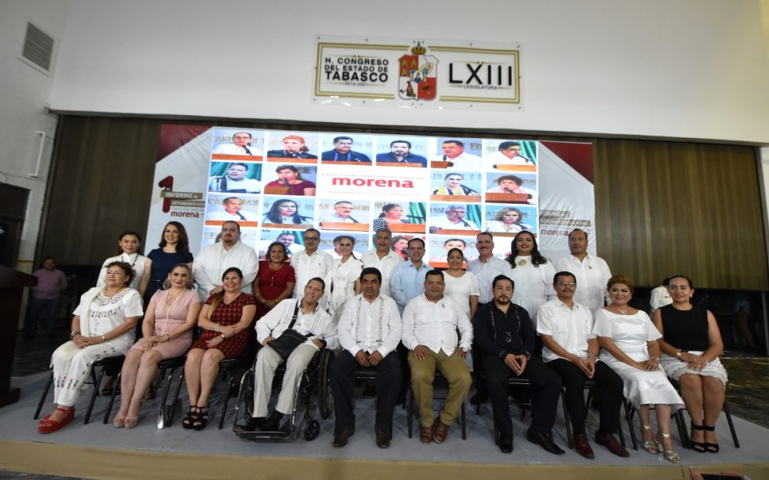Presenta Fracción Parlamentaria de Morena Primer Informe de Actividades Legislativas
