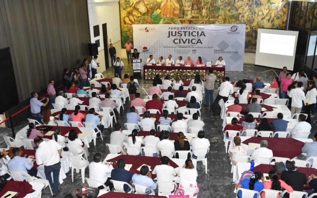 Realizan Foro Estatal de Justicia Cívica en el Congreso del Estado