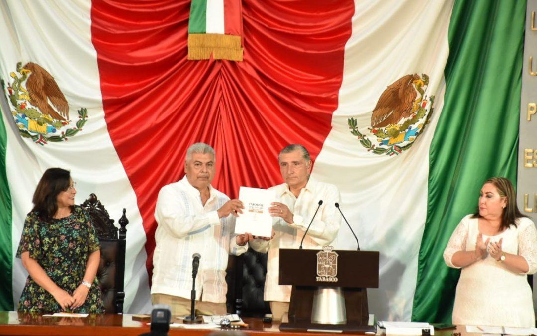 Recibe Congreso del Estado el Primer Informe de Gobierno del Titular del Poder Ejecutivo del Estado