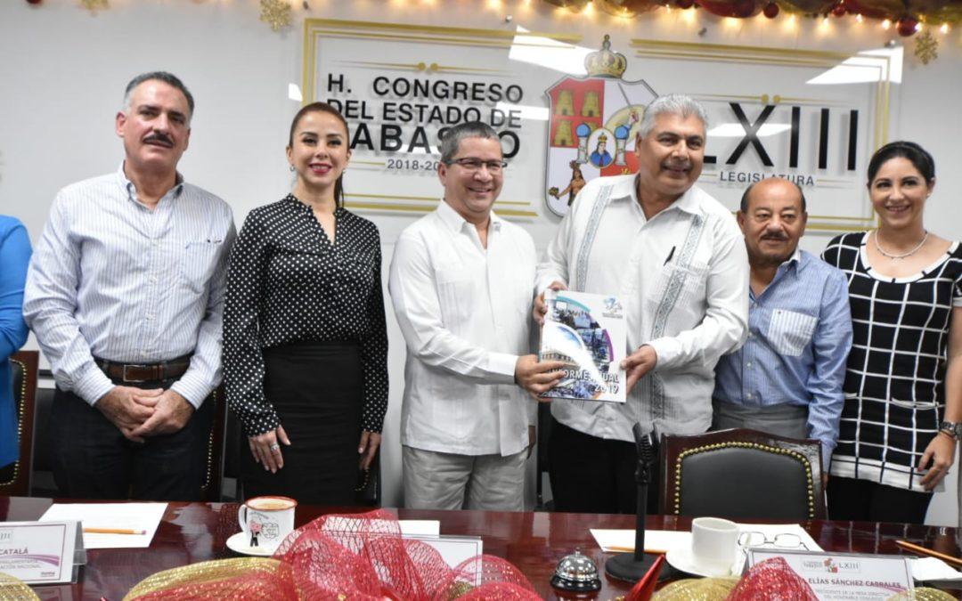 Recibe Congreso local Informe Anual de la Comisión Estatal de los Derechos Humanos