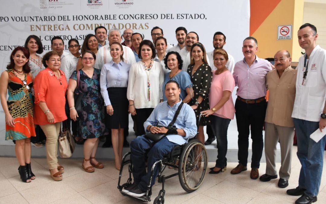 Entrega Congreso del Estado equipos de cómputo al Centro de Rehabilitación y Educación Especial (CREE)