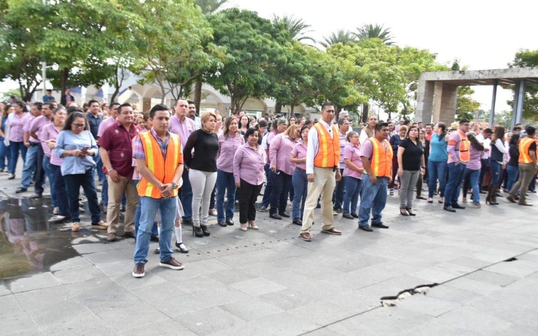 Se suma Congreso de Tabasco al Primer Macrosimulacro Nacional de 2020