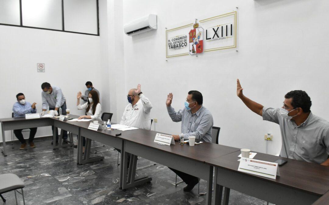 Aprueban en Comisión dictámenes de solicitud de empréstitos de los ayuntamientos de Paraíso y Nacajuca