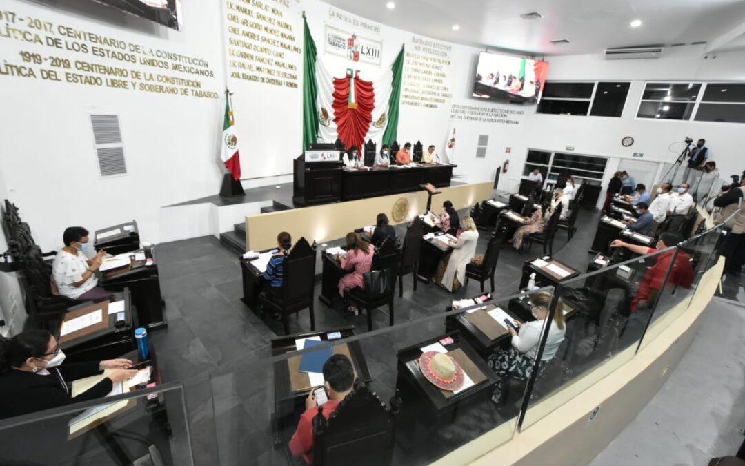 Continúa LXIII Legislatura trabajando a favor de los tabasqueños
