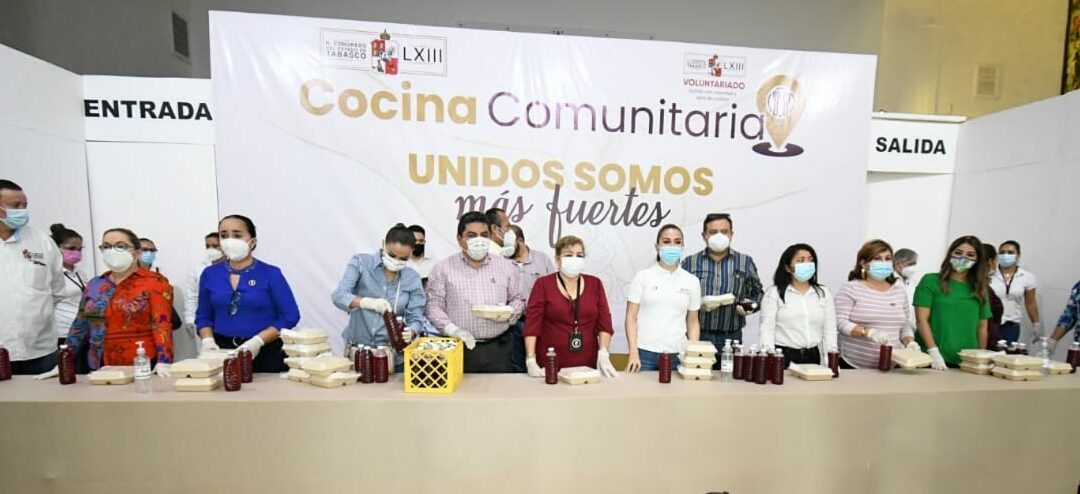 """Apertura Congreso del Estado """"Cocina Comunitaria"""" en apoyo de familias afectadas por inundaciones"""