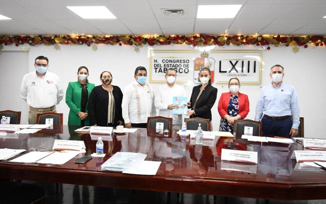 Recibe Congreso local informe de la Comisión Estatal de los Derechos Humanos