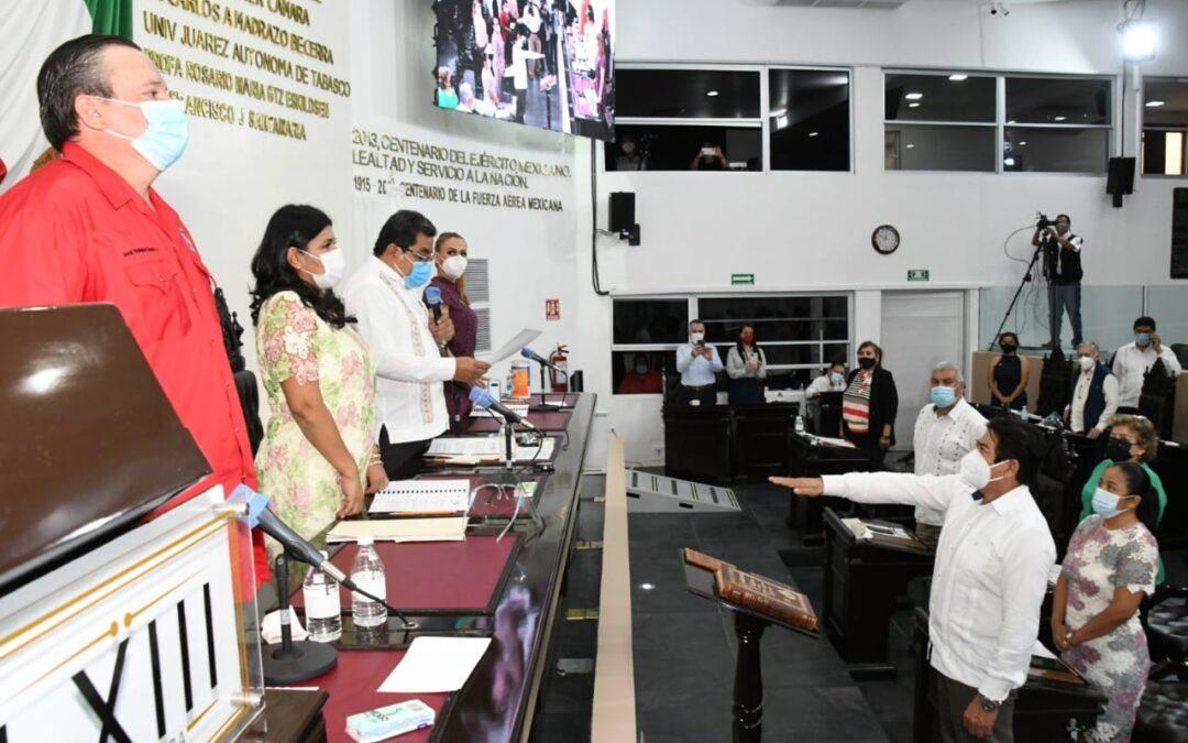 Designan y toman protesta a Nicolás Bautista Ovando como Fiscal General del Estado de Tabasco