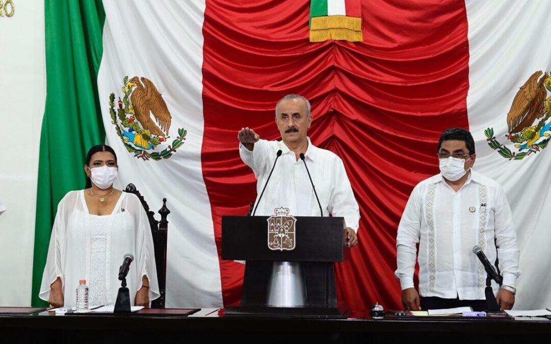 Rinde protesta Carlos Manuel Merino Campos como Gobernador Interino del Estado de Tabasco